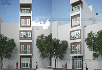 Thiết kế nhà phố 5,5 tầng trên đất 31m2
