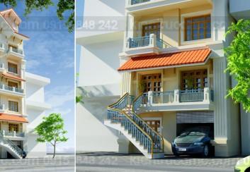 Thiết kế nhà phố 6 tầng 2 mặt tiền
