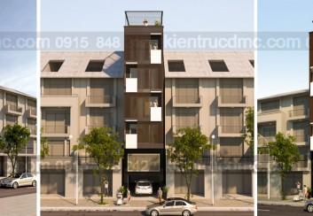 Thiết kế nhà phố 6 tầng diện tích 41m2
