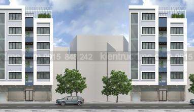 Thiết kế nhà phố 6 tầng diện tích 69m2