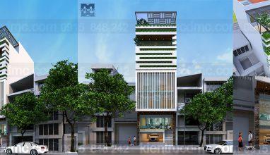 Thiết kế nhà phố 7 tầng kết hợp văn phòng làm việc trên đất 94,5m2