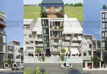 Thiết kế nhà phố 7 tầng làm văn phòng cho thuê