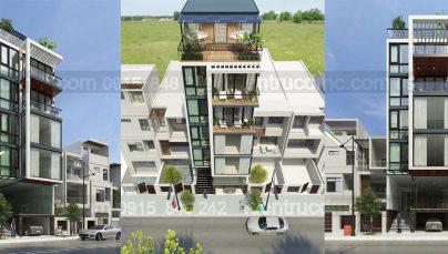 Thiết kế nhà ở kết hợp kinh doanh 7 tầng đẹp