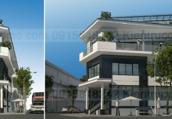 Thiết kế nhà phố căn góc ở kết hợp kinh doanh
