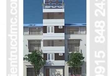 Thiết kế nhà phố 6 tầng làm nhà cho thuê