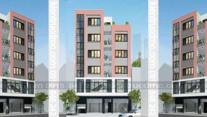 Thiết kế nhà phố kết hợp kinh doanh 6,5 tầng diện tích 67,5m2