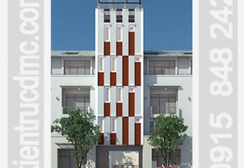 Thiết kế nhà phố làm nhà nghỉ 6 tầng