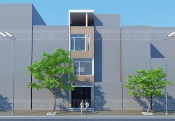 Thiết kế nhà phố nhỏ 30m2 mặt tiền 3,2m