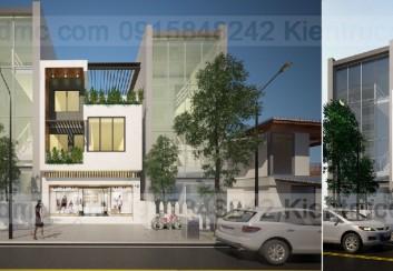 Thiết kế nhà phố ở kết hợp kinh doanh mặt tiền 6.3m