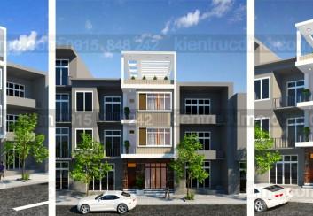 Thiết kế nhà phố 3.5 tầng diện tích 54m2