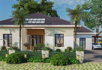 Thiết kế nhà vườn 1 tầng mái thái phong cách đồng quê