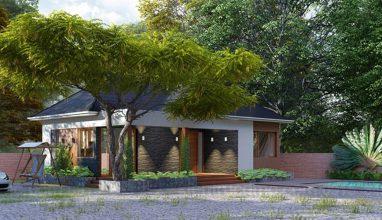 Thiết kế nhà vườn 1 tầng mái thái trên diện tích 220m2