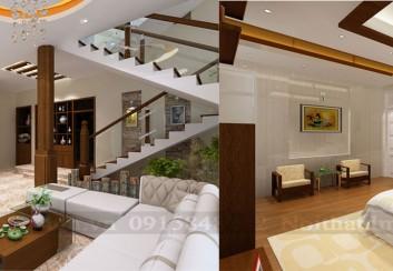 Thiết kế nội thất nhà ống 4 tầng diện tích 120m2