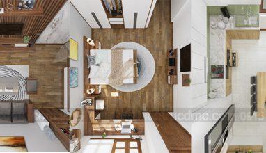 Thiết kế nội thất nhà phố lệch tầng phong cách hiện đại