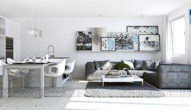 Thiết kế nội thất sáng màu cho căn hộ chung cư nhỏ