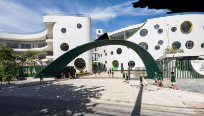 Thiết kế Trường mầm non xanh với kiến trúc độc đáo