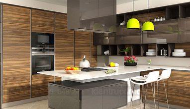 Tư vấn thiết kế nội thất cho phòng bếp nhỏ bằng chất liệu gỗ đẹp