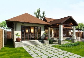 Thiết kế nhà vườn đẹp 1025m2 1 tầng Hải Phòng